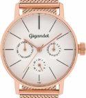 Gigandet G38-008 Montre pour Femme avec Bracelet en Acier Inoxydable Couleur Or Rose