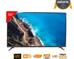 LED 50″ UHD- 4K – Téléviseur Telestar SMART – ANDROID – Noir –