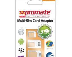 Promate Unisim Adaptateur Carte SIM 3 en 1