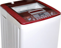LAVE LINGE 11KG DOUBLE BAC PLASTIQUE TOP ROUGE BYA