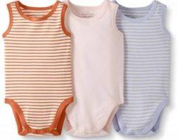 Lot de 3 Bodies à manches longues en coton bio pour bébés