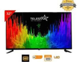 LED TV TELESTAR 32″ FHD DVB-T2/S2 (DEMO INTEGRE) SMART ANDROID 7.0 DOLBY FRAMELESS (AVEC SUPPORT MURAL INTEGRE)