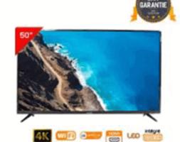 LED TV TELESTAR 50″ UHD 4K,DVB-T2S2(DÉMO INTÉGRÉ),SMART ANDROID DOLBY(SUPPRT MURAL INTÉGRÉ)